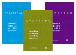 3 volúmenes de Gramática española en 1.900 ejercicios